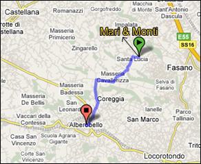 Bed And breakfast a pochissima distanza da Alberobello, Zoo safari Fasano, Monopoli e Castellana Grotte